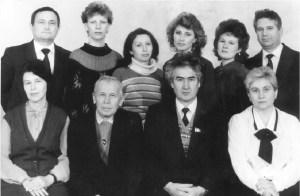 Коллектив кафедры глазных болезней в 1990 г.